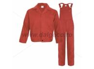 Costum salopeta cu pieptar MEX RED 9081R-46