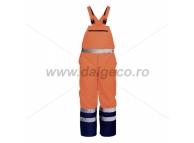 Pantaloni cu pieptar impermeabil de iarna reflectorizant NORWAY 9188-L