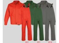 Costum salopeta cu pieptar bbc 100% REX Verde 9091V-S