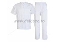 Costum alb din tercot TINA 90832-A-S