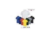 Tricou cu guler bumbac colorat ST3000-VT-M