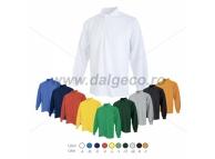Tricou de vara cu maneca lunga si guler PIQUE LONG 90604-GR-L