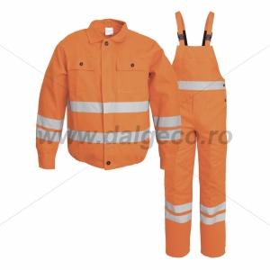 Costum salopeta cu benzi reflectorizante FILIP 9093-L