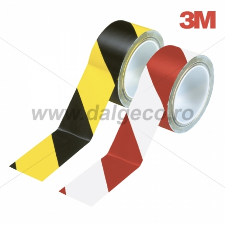 Banda adeziva pentru marcare 3M, galben cu negru