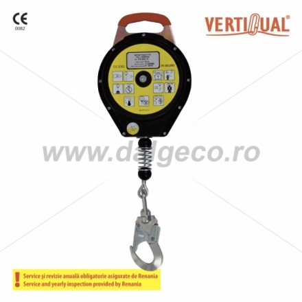 Opritor de cadere cu cablu retractabil 18m