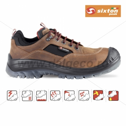 Pantofi de protectie cu bombeu compozit BROWN LAND S3 2559 S3-42