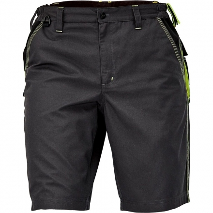 KNOXFIELD pantaloni scurti gri/galben 03100022A1048